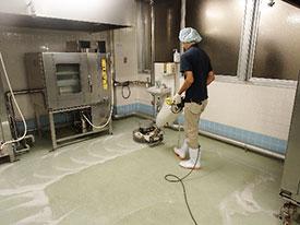 メンテナンス部 定期清掃 床面洗浄